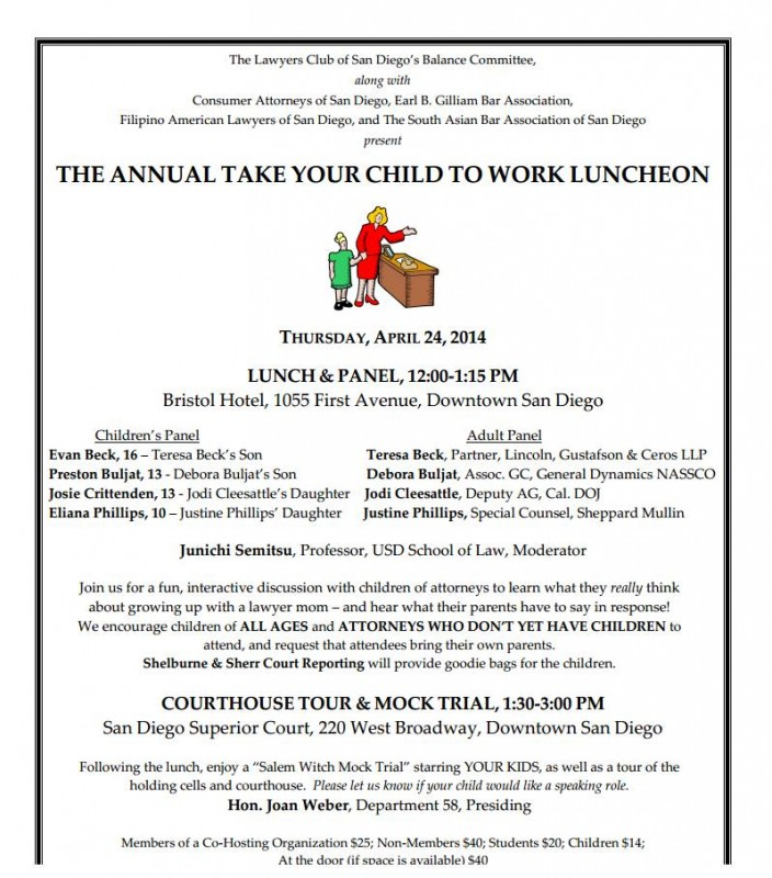 Take Your Child to Work Day Luncheon